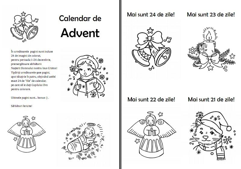 Calendar De Avent Imagini De Colorat Resurse Pentru Cateheză