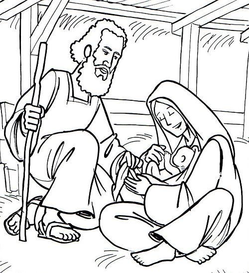 Crăciun Imagini De Colorat Resurse Pentru Cateheză